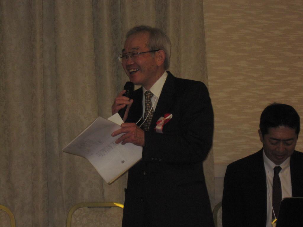 来賓挨拶 久保田先生